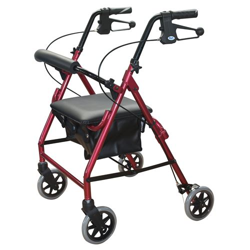 Days-102-Rollator-6-Wheels-Red-(DAYS-102-RED)