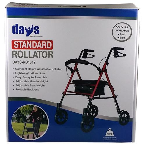 Days-Rollator-Boxed-Standard-Blue-(DAYS-KD1012-BLUE)