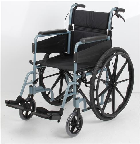 Escape-Wheelchair-Self-Propelled-Standard-Silver-Blue-(PAT-091566249)