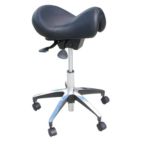 Saddle-Stool-with-Short-Horn-Black-(STL-00-51055-03BK)